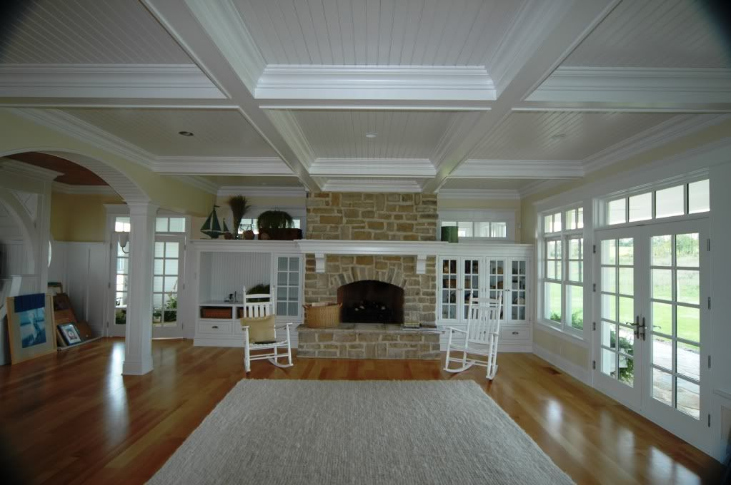 Chair Rail 9 Ft Ceiling Part - 24: Ceiling Beam Designs | Here Is A 10 Ceiling With Beams At 9 Ft In Stained
