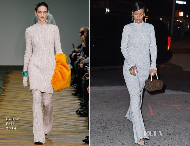 Rihanna In Celine - Out In New York City - Red Carpet ...