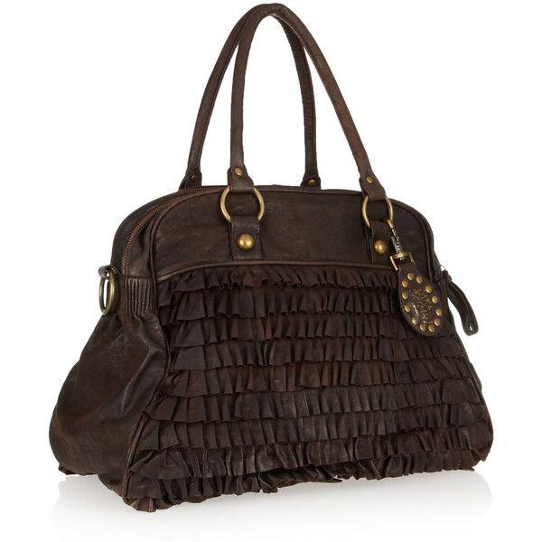Sara Berman Bailee Ruffled Leather
