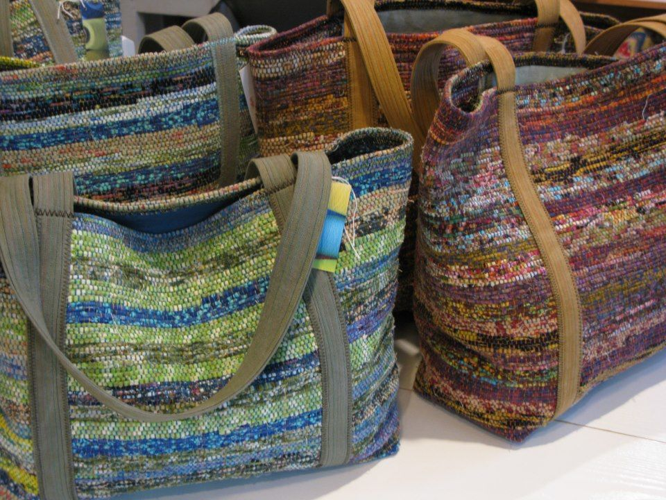 Beautiful Bags Lovely Small Rag Rugs Weaving