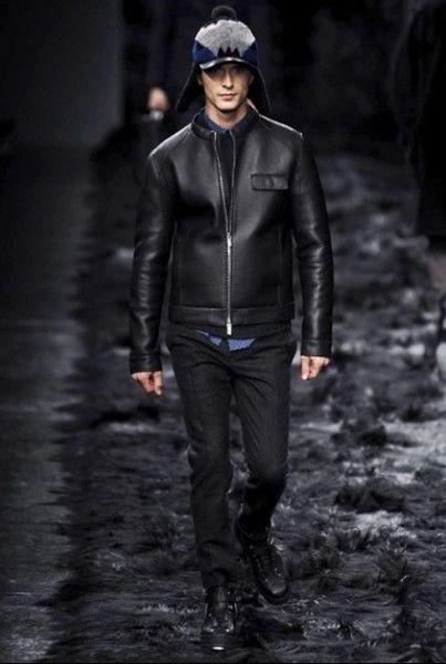 new styles ebd8d 76ce3 sfilata-fendi-uomo-autunno-inverno-2014-2015-giubbotto-pelle ...