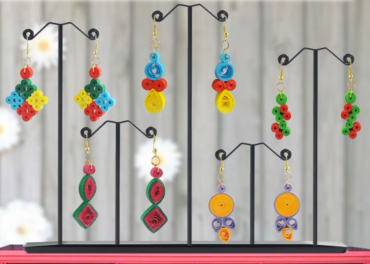 Quilling earrings fascinating quilling projects for Easy quilling designs step by step