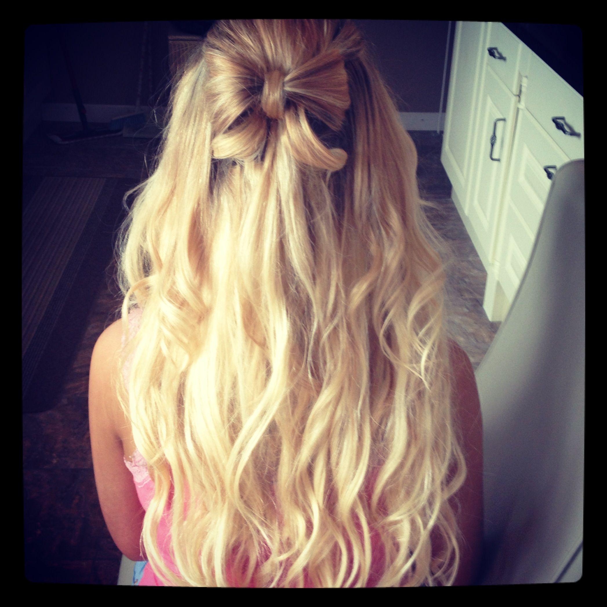 Hair bow on long hair hair pinterest bows hair and hair bows