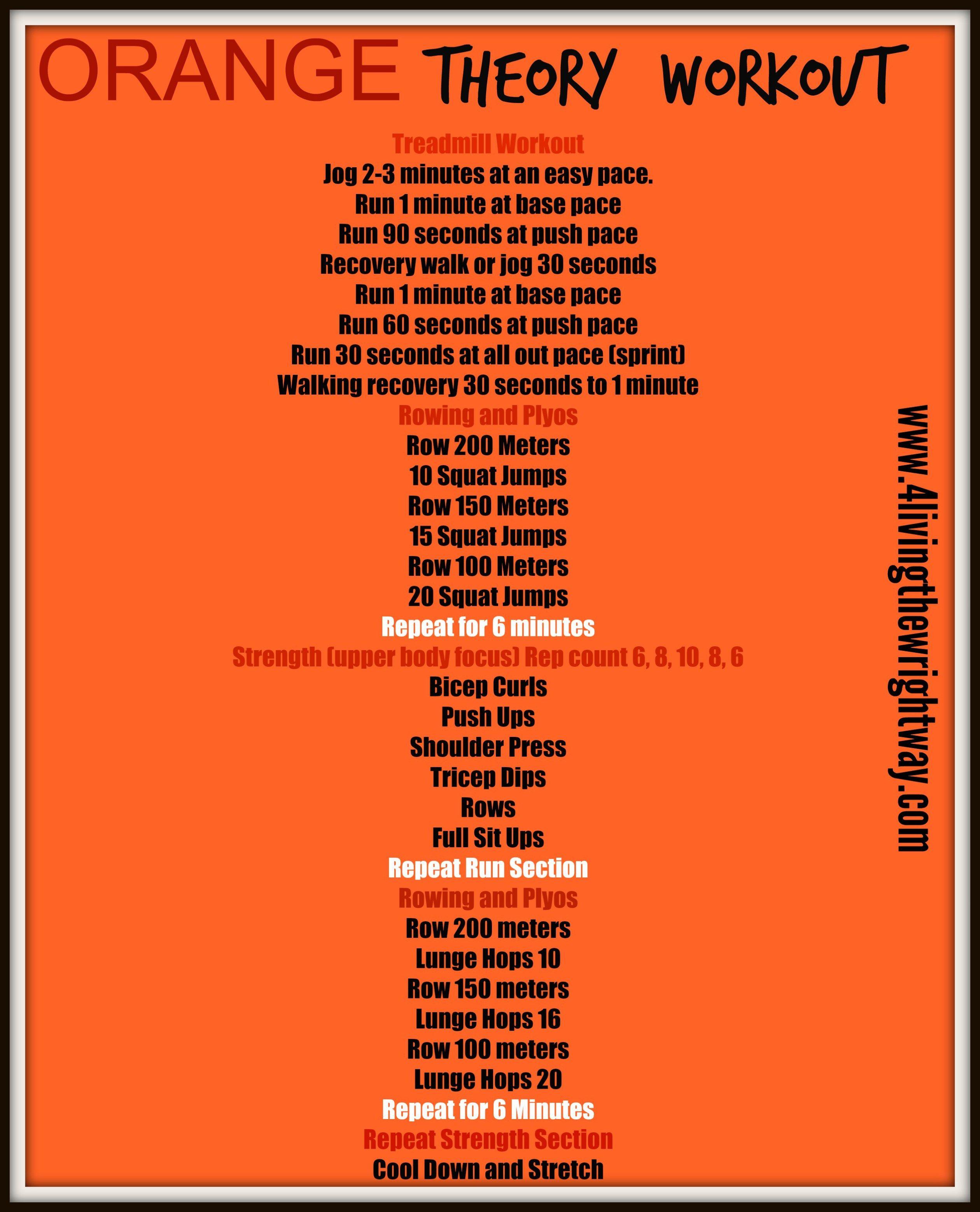 Circuito Hiit En Casa : Orange theory workout hiit