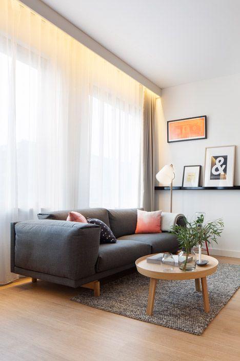 Studio - un aménagement moderne et bien pensé | Concrete, Sofa ...