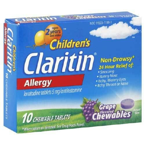 Childrens Claritin 24 Hour Grape Flavored Chewable