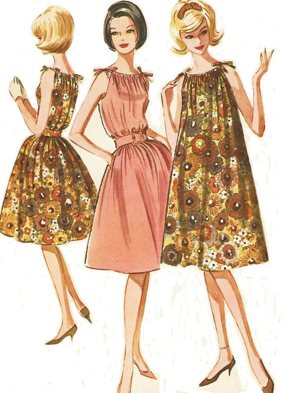 1960s McCalls Sewing Pattern 6712 Womens Summer by CloesCloset ...