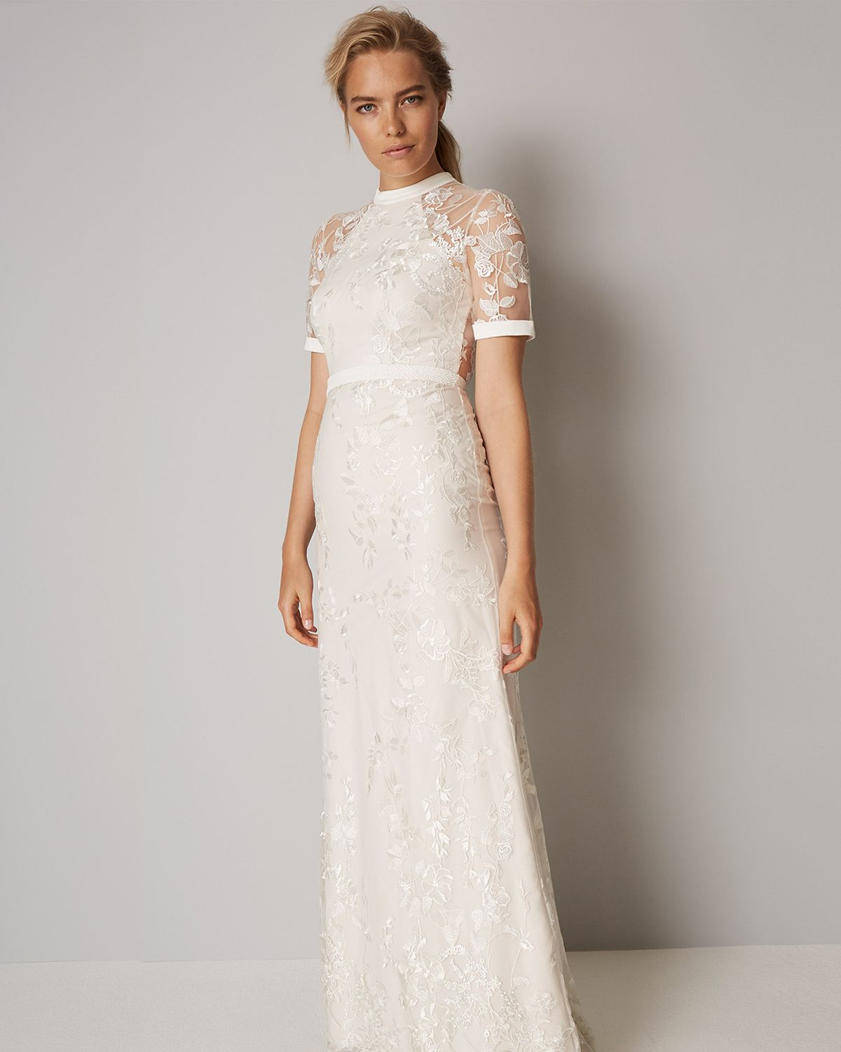 e80feea9d58 Phase Eight Poppy Embroidered Wedding Dress Neutral