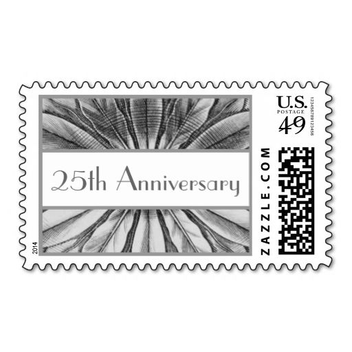 525th Anniversary - Silver Flower Petals Stamp. It is really great to make each letter a special delivery! Add a unique touch to invites or cards with your own photos or text. Just click the image to learn more!