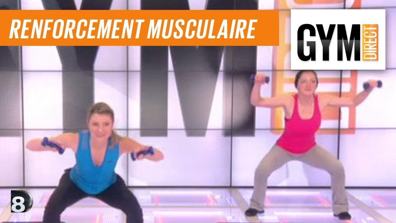 Cours gym : renfort musculaire 19 : Avec des poids (avec
