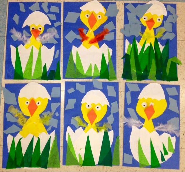 Kindergarten Chicks With Images Kindergarten Art Kindergarten