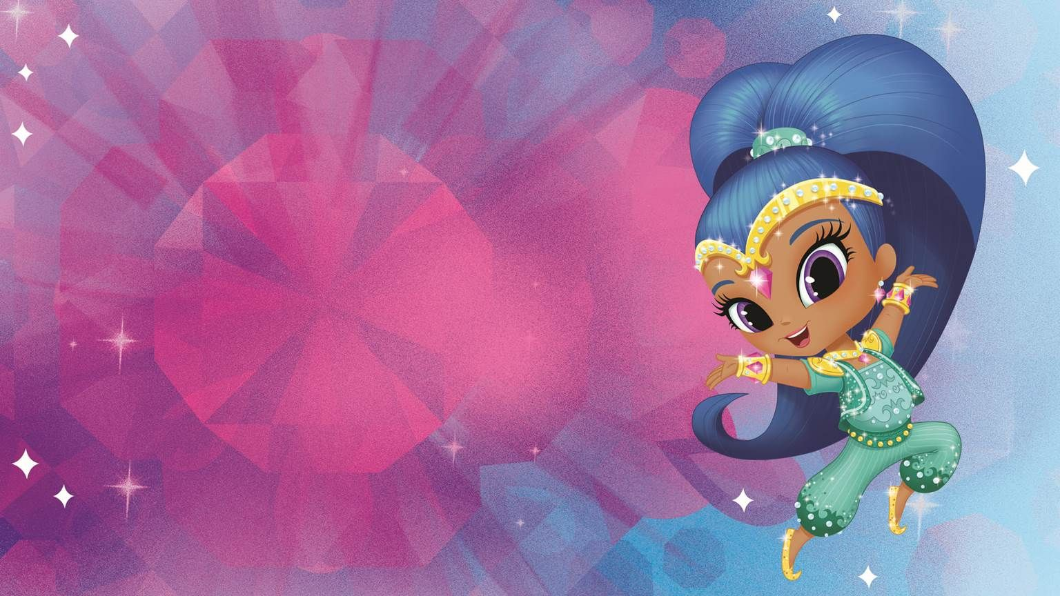Its time to dazzle with this shine wallpaper from shimmer & shine