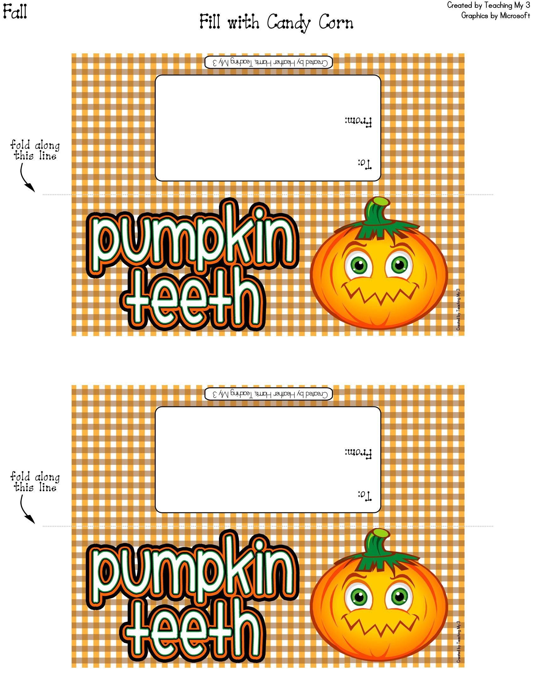Goobag Topper Card Label For Halloween And Fall