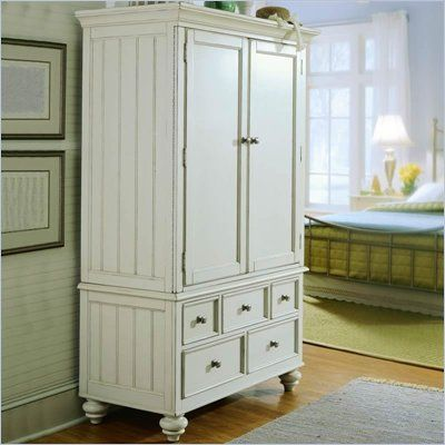 American Drew Camden Antique White TV/Wardrobe Armoire   920 270R