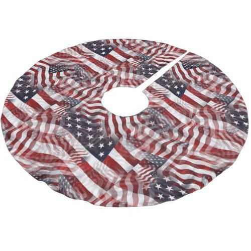 American Flag Red White Blue Stripes Stars Pattern Brushed Polyester