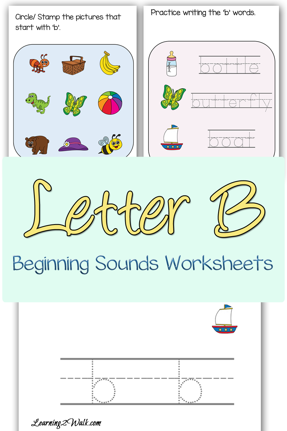beginning sounds b worksheets worksheets and homeschool. Black Bedroom Furniture Sets. Home Design Ideas