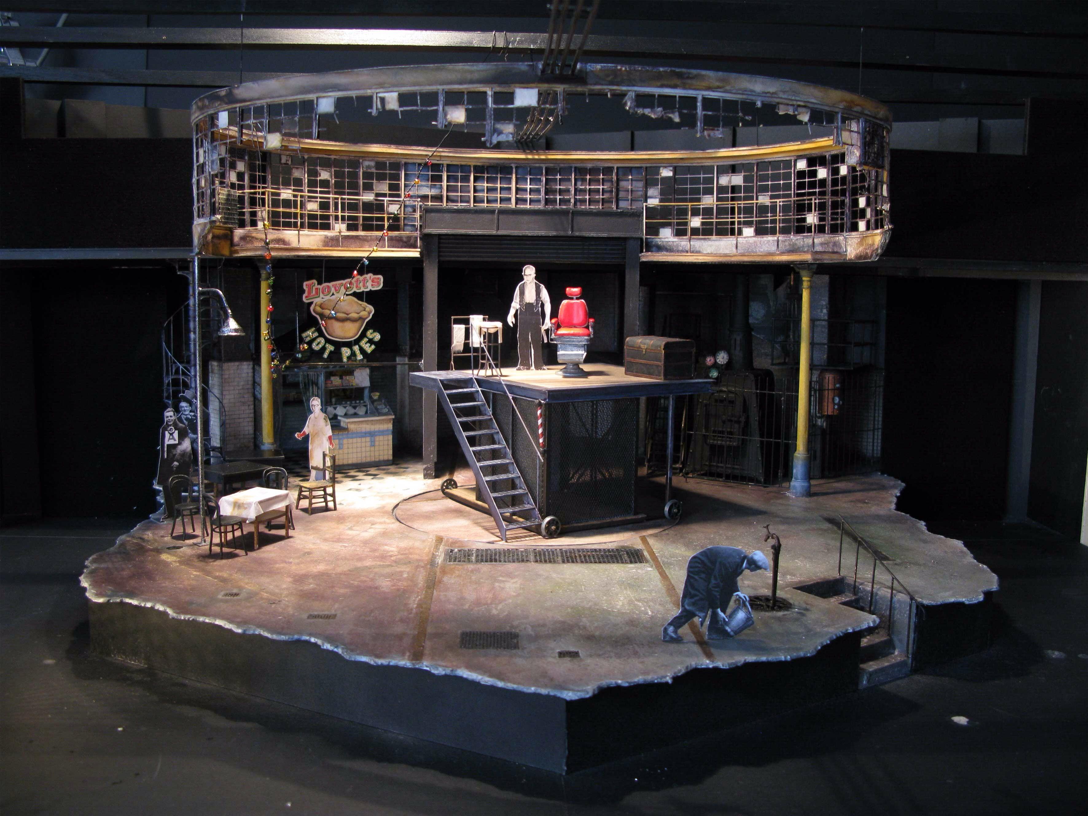 Sweeney Todd Model . 2012 Scenic Design Set
