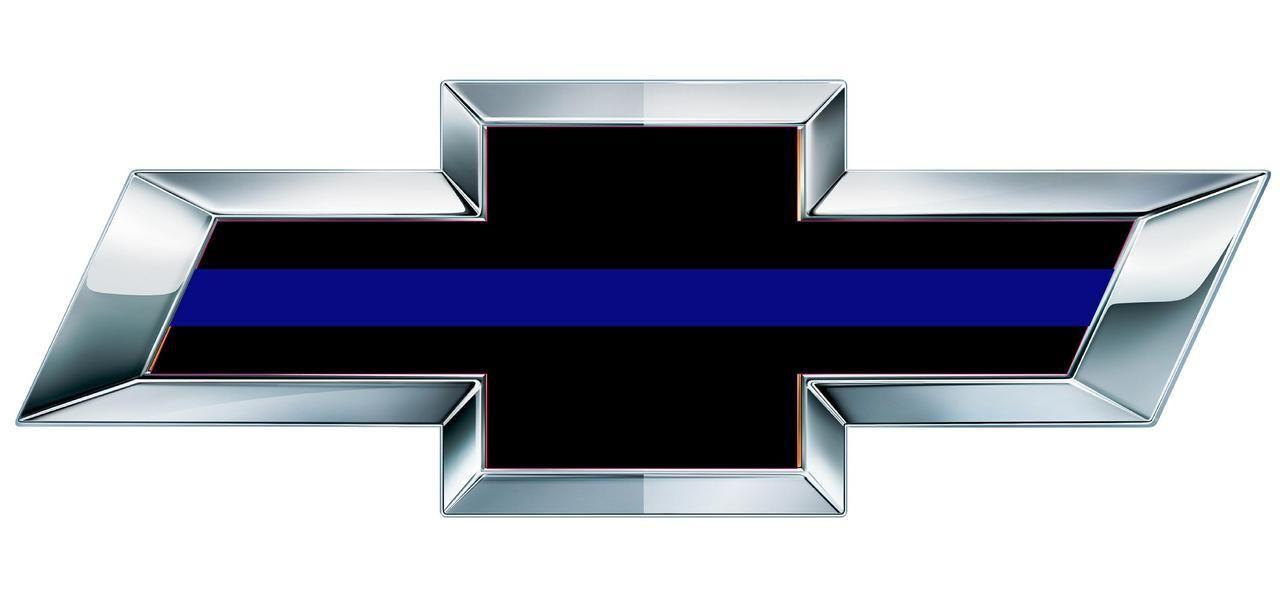 Chevy Thin Blue Line Overlay Bowtie Decal Cop Stuff Pinterest