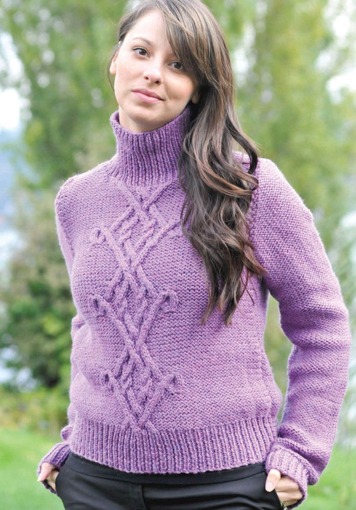 Chunky Celtic Pullover in Cascade 128 Superwash - C201 ...