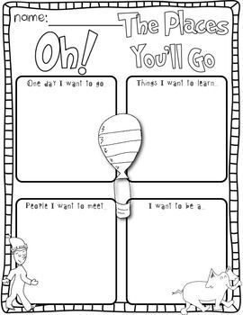 Going Places Dr Seuss Inspired Literacy Math Activities On