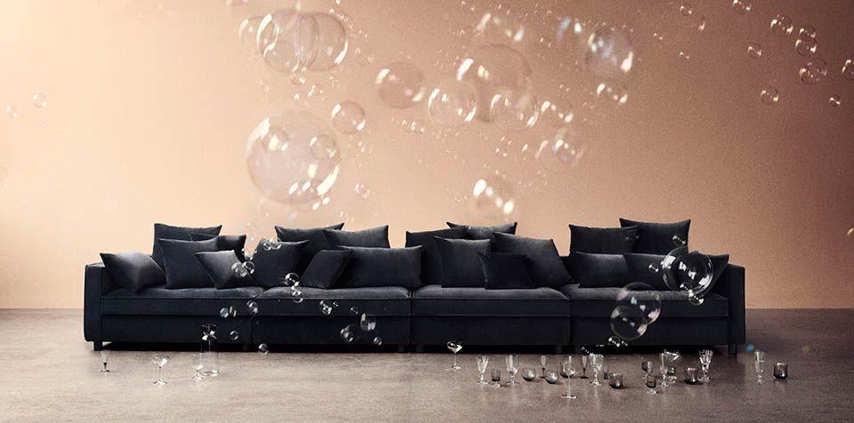 Fremragende black mr. big modular sofa from bolia designed by says who, D123 AT62