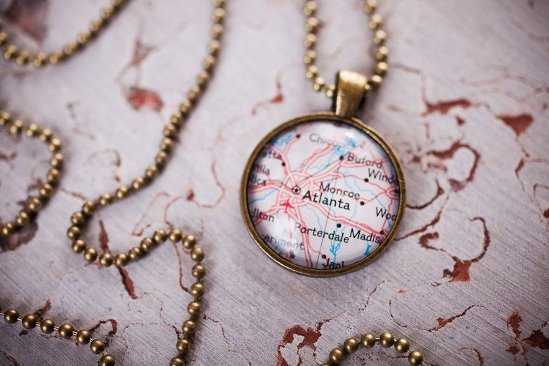 Hometown Map Necklaces