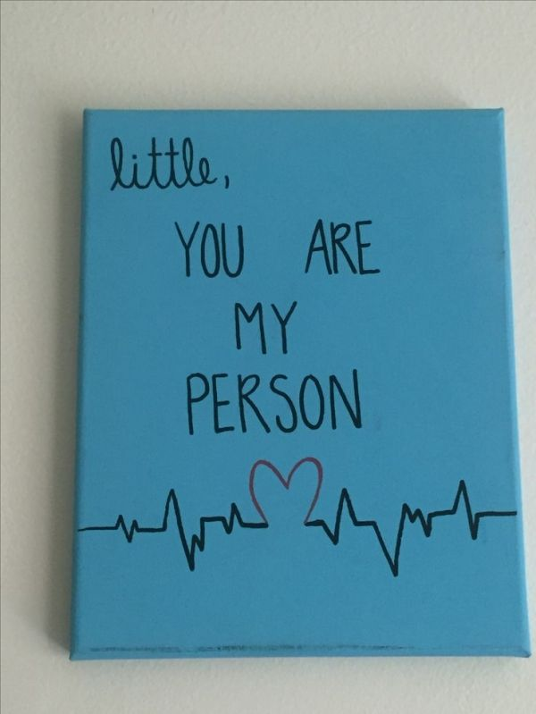 Grey's Anatomy You Are My Person Big/Little canvas by Lola the boa #biglittlecanvas