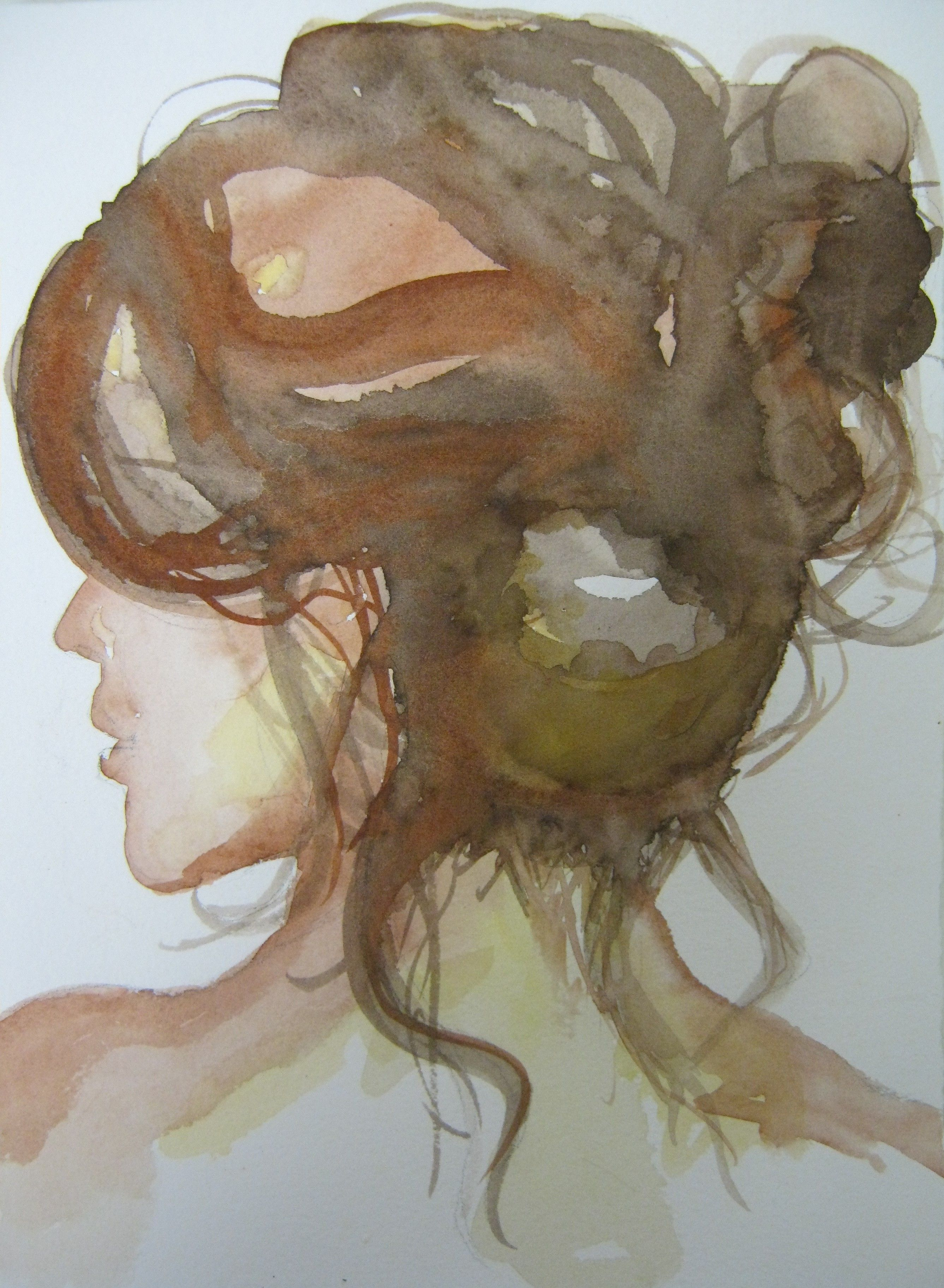 How To Paint Dark Hair In Watercolor The Art Of Susan Walsh