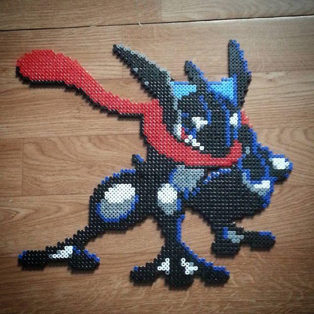 Greninja 658 Pokemon Hama Beads By Nat28hd Perler Bead