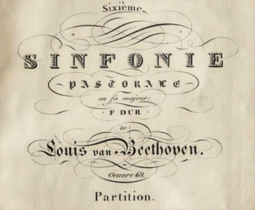 Frontispicio Da Partitura Da Sinfonia N 6 Pastoral Opus 58