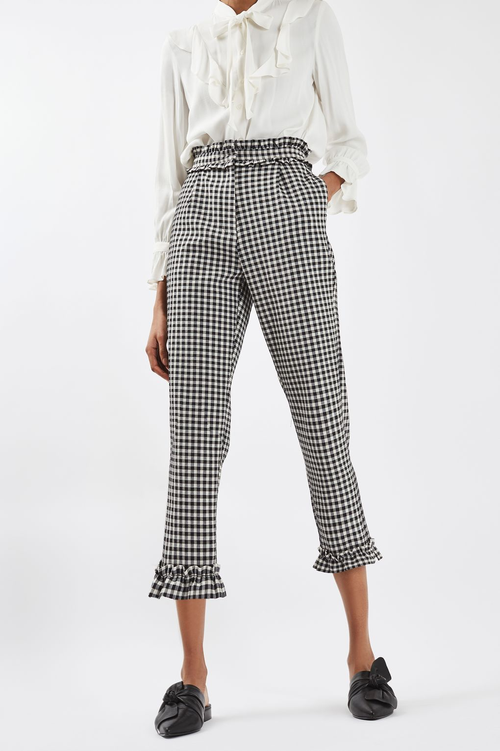 08a7358efc445 Gingham Frill Trousers in 2019