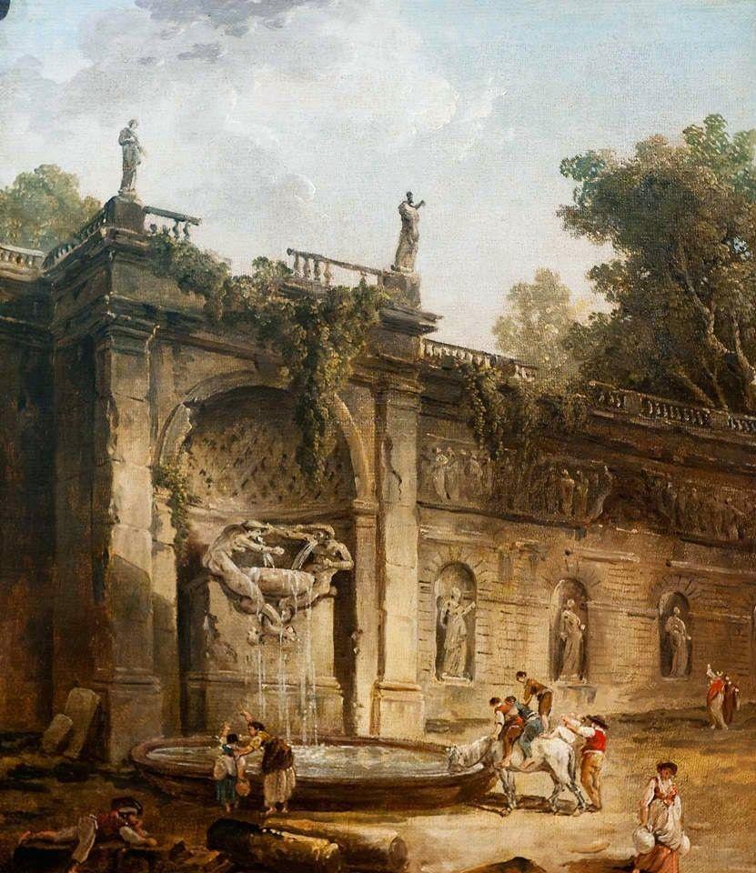 Robert Hubert  The Fountain 18th century