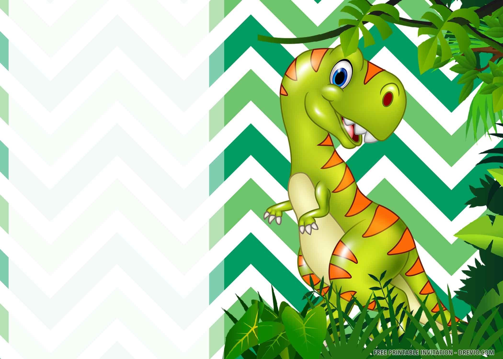 dinosaur birthday card printable