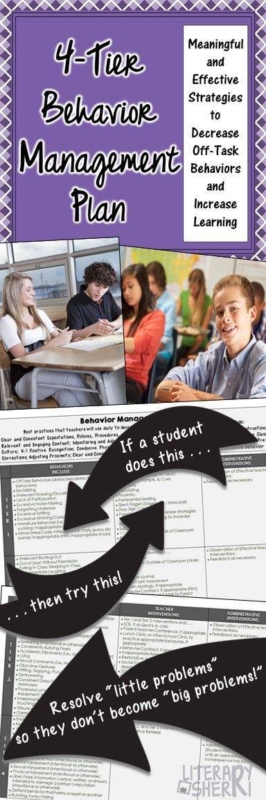 Classroom Management FourTier Behavior Management Plan