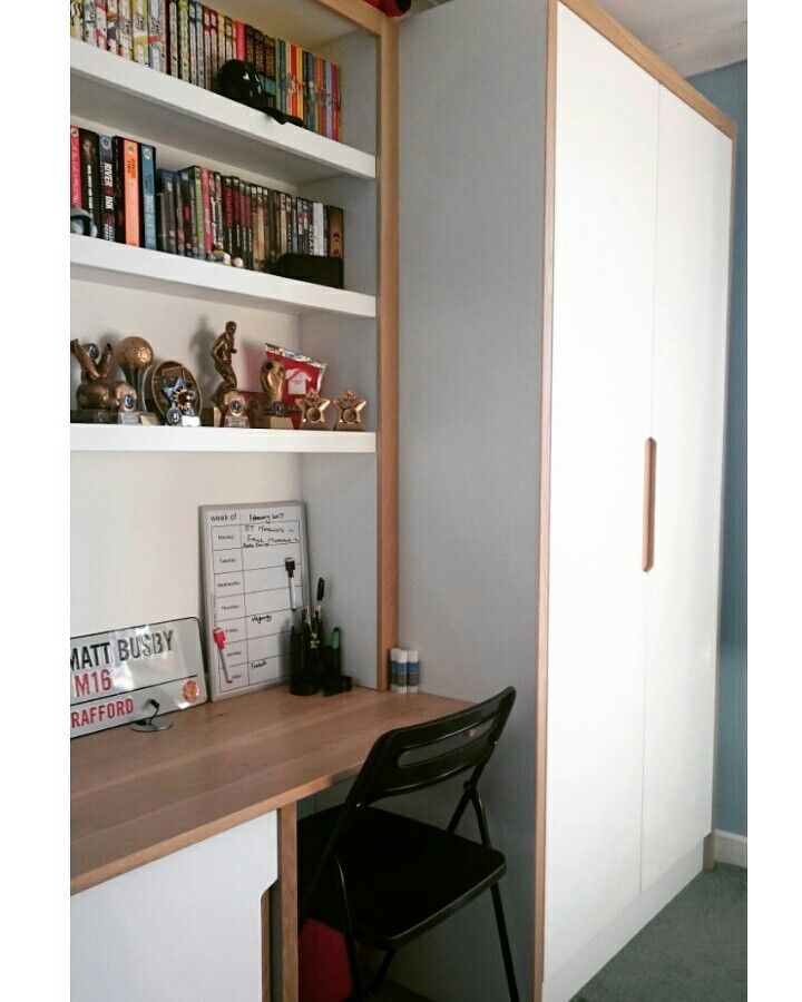Bespoke Under Stairs Shelving: Bespoke Fitted Wardrobes With Integrated Oak Handles And