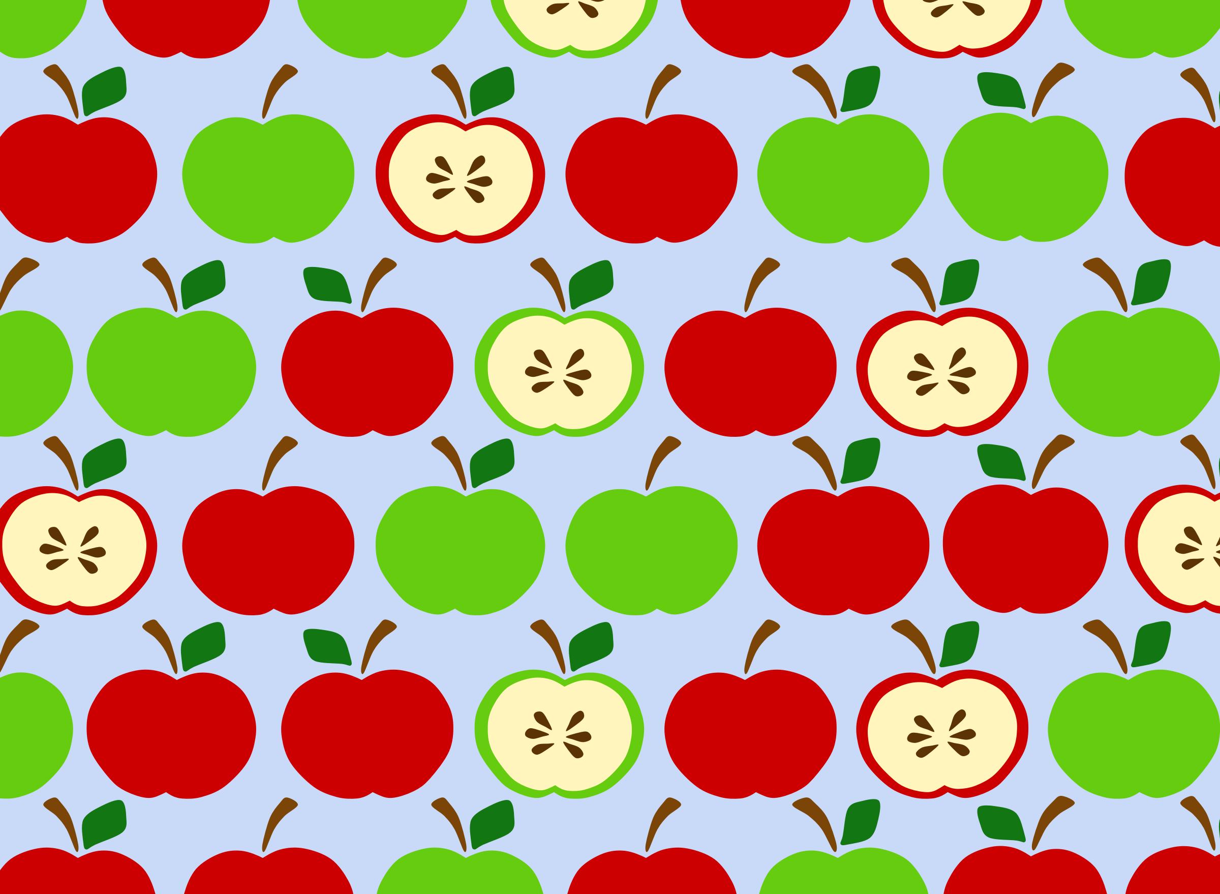 Apples-Pattern.png (2400×1758) | cocina | Pinterest | Pattern ... for Kitchen Wallpaper Clipart  54lyp