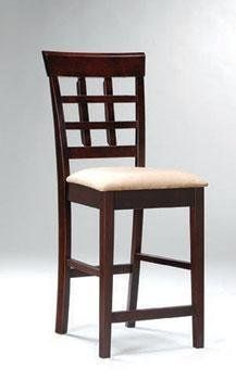 30 Inch Bar Stool With Wheat Back Design Set Of 2 In Rich