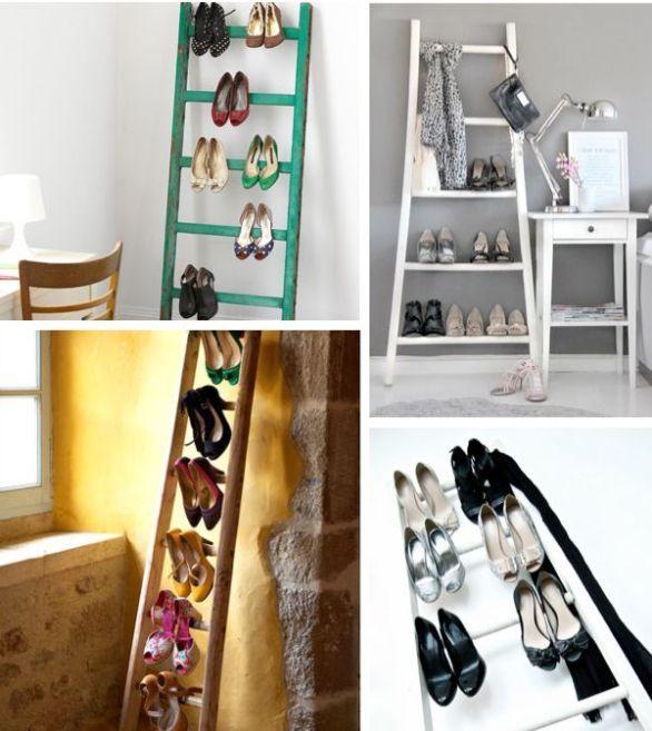 ideas originales para hacer zapateros caseros de tela