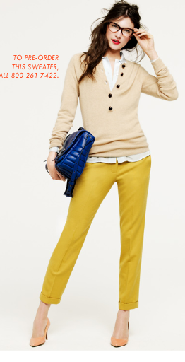 J.Crew Fall 2011 - This would be great for vintage style, or paired with a bright orange/red dress for the little girl in your life!