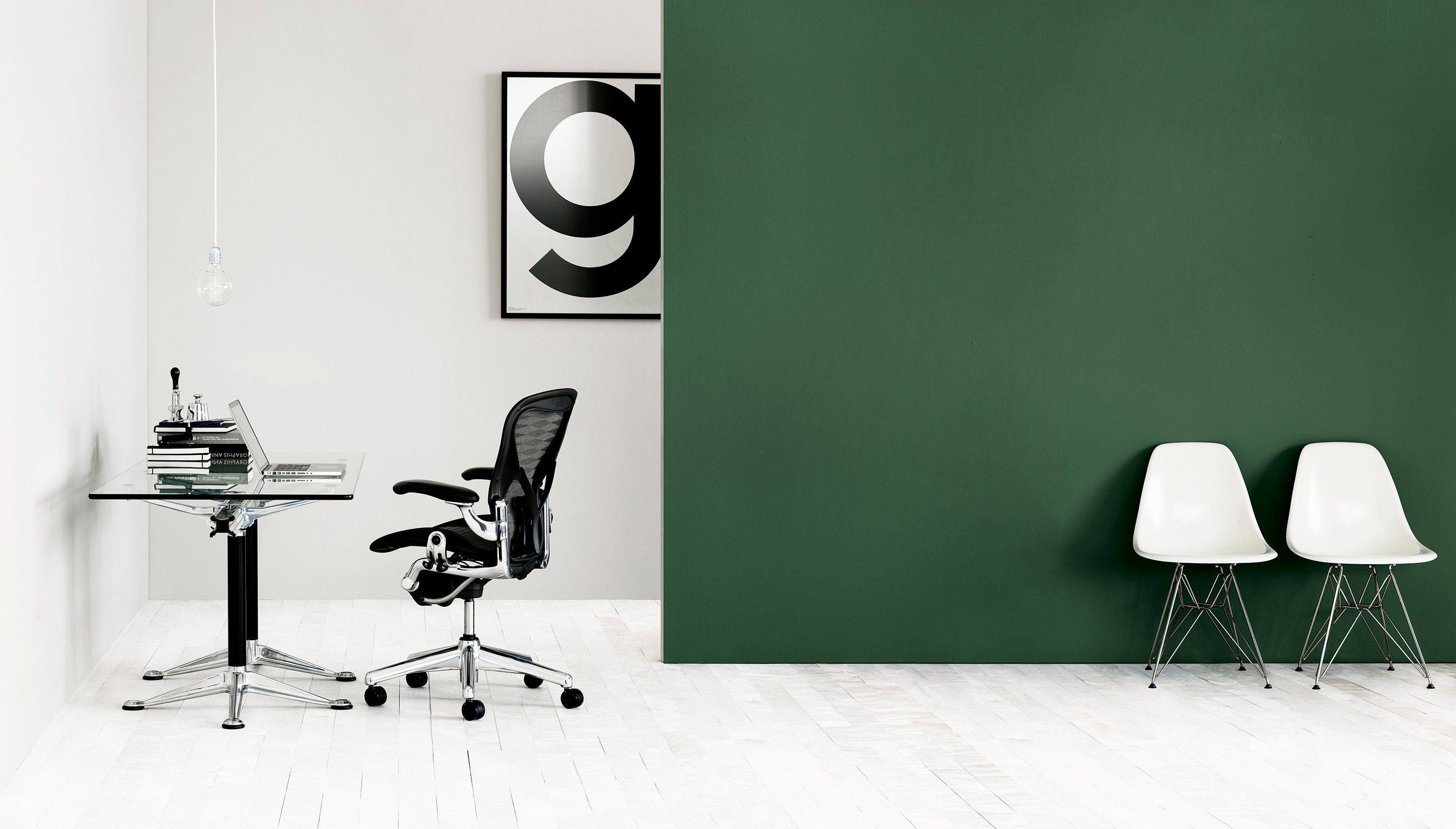 A stunning simple workspace that highlights the beauty of herman