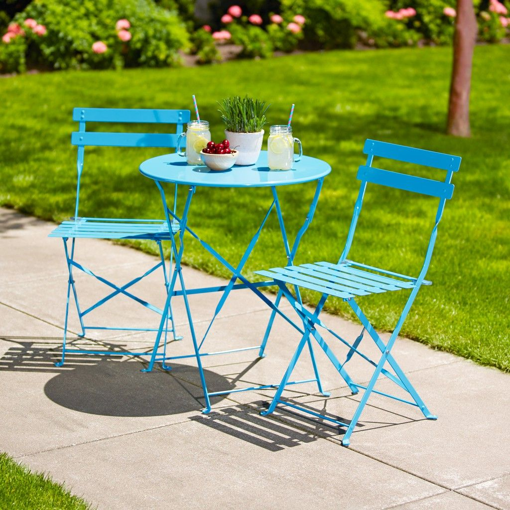 Hd Designs Outdoors Orchards 3 Piece Bistro Set Aquarius