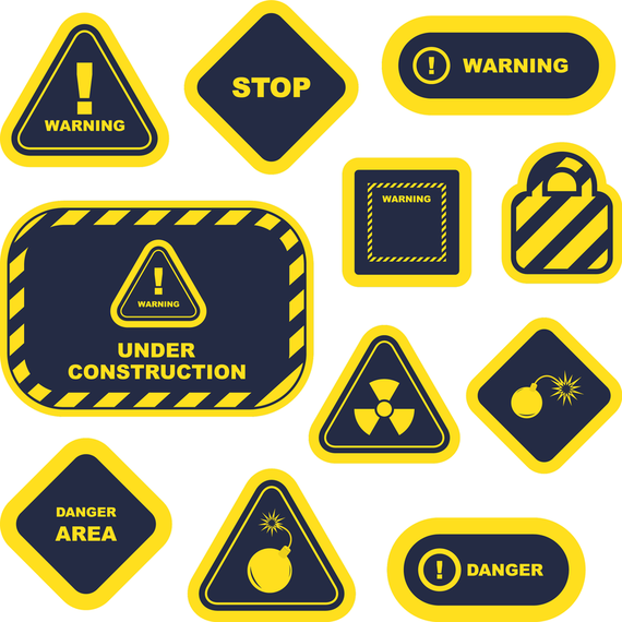 Yellow Warning Signs And Labels 02 Vector Ad Ad Sponsored Signs Vector Labels Warning Warning Signs Graphic Image Layout Template