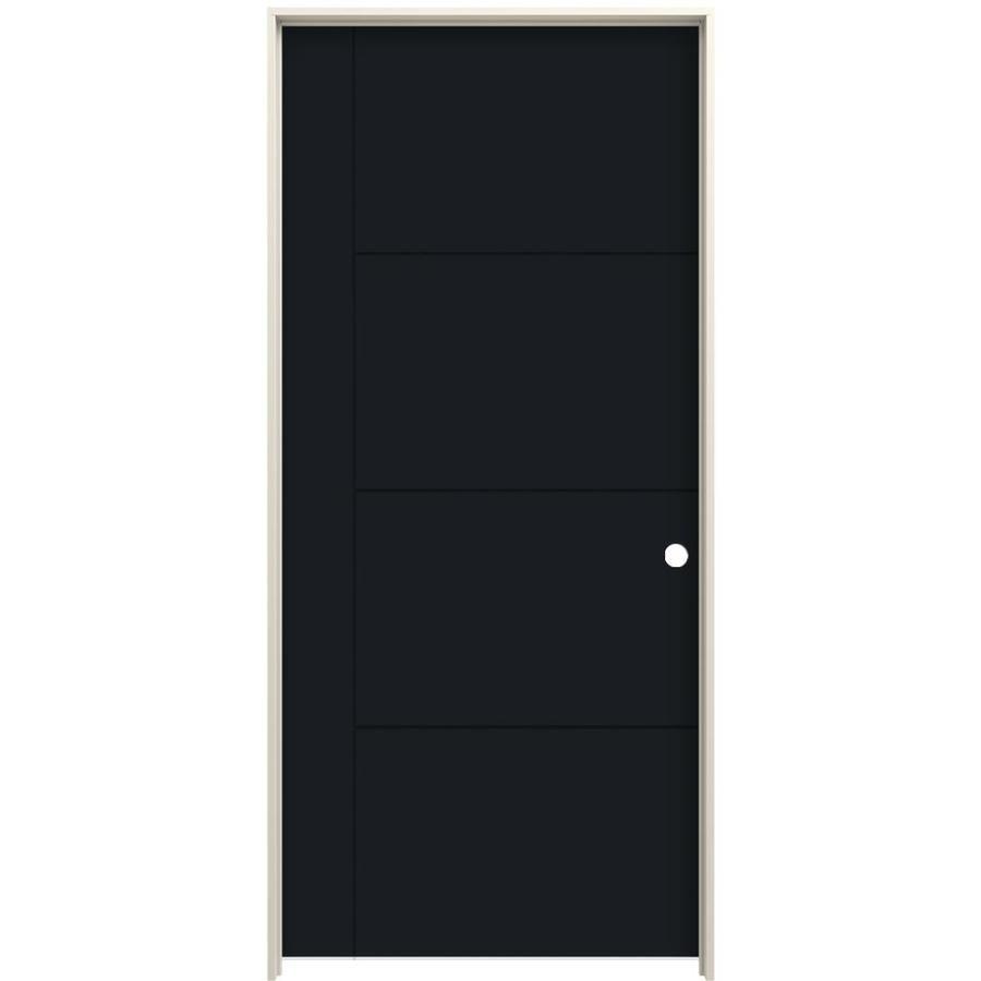 5 panel hollow core door on Jeld Wen Studio Sl130 30 In X 80 In Eclipse 5 Panel Square Hollow Core Prefinished Hardwood Hardboard Left Hand Single Prehung Interior Door Lowes Com Prehung Interior Doors Prefinished Hardwood Doors Interior