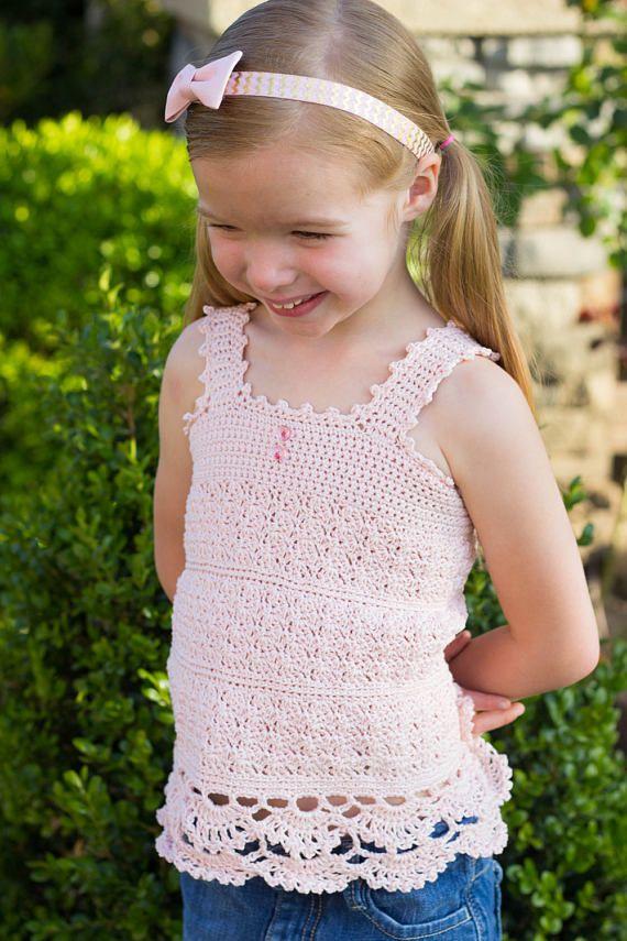 Angel Crochet Lace Top Pattern Girls Crochet Tank Top Pattern