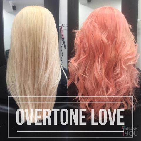 Overtone Pastel Pink And Pastel Orange Mix Conditioners Peach