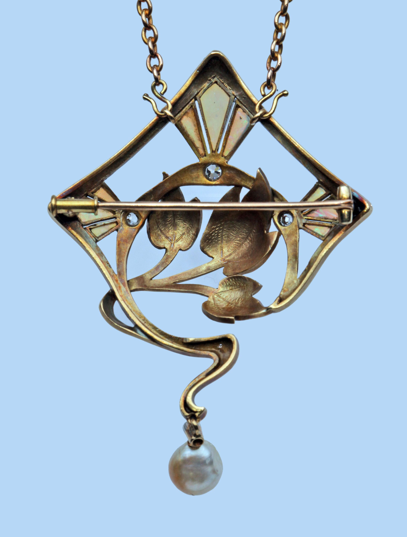 Art nouveau ucbrue pendantbrooch tadema gallery jewellery