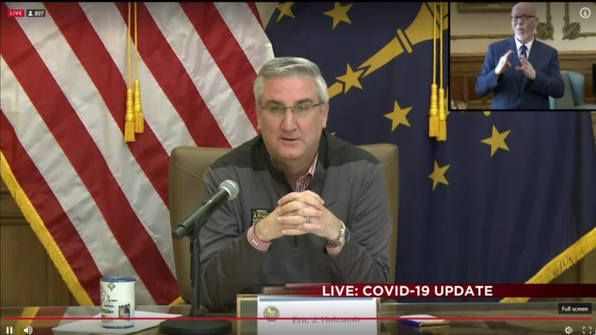 Indiana Gov. Eric has extended the state's stayat