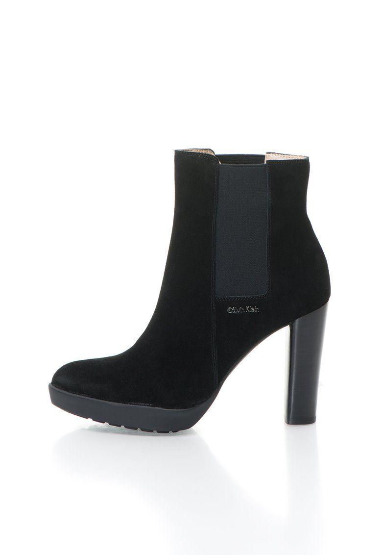 Naeva Fekete Rövid Szárú Csizma Rugalmas Betétekkel a Calvin Klein márkától  és további hasonló termékek a Fashion Days oldalán c626cb0ba6