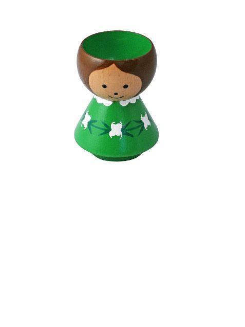 Girl Green Eierbecher / Hard Boiled Egg Cup