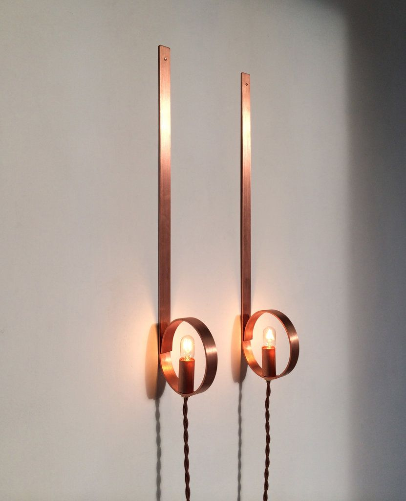 In L A Blurring The Line Between Art And Housewares Copper Lighting Wall Mounted Light Lighting Design